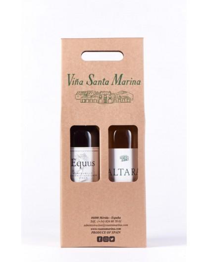 Estuche de 2 botellas con Equus + Altara