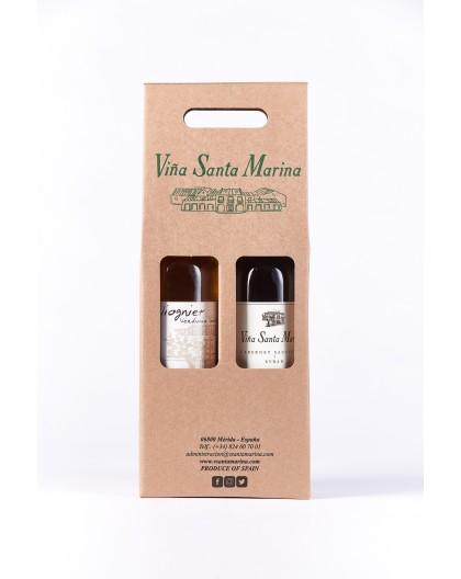Estuche de 2 botellas con Viña Santa Marina Vendimia Tardía + Viña Santa Marina Crianza