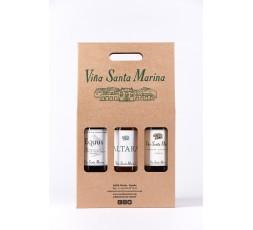 Estuche de 3 botellas con Equus + Altara + Viña Santa Marina crianza